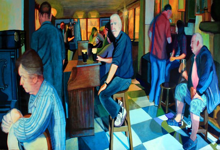 Muintir na hÉireann in the bar in Athlone