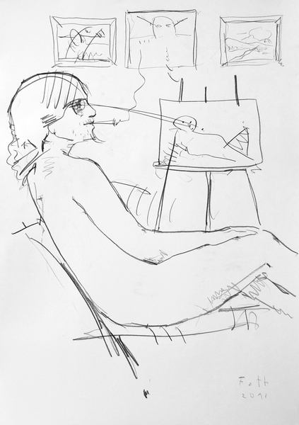 Junger Maler, ruhend