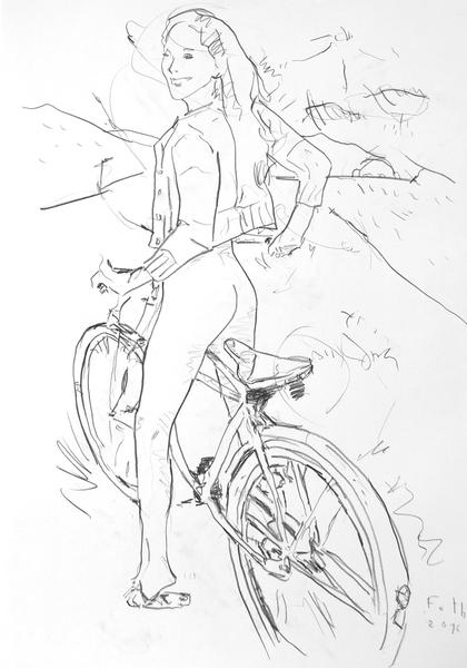 Radfahrerin III