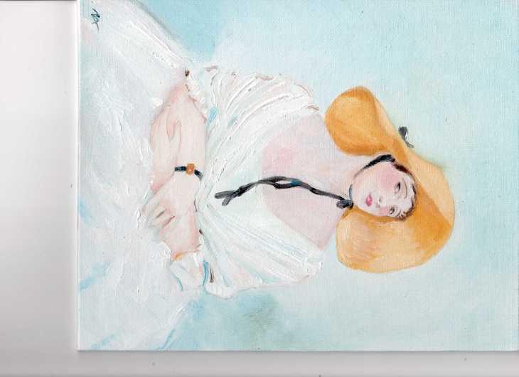 Senorita with a sunhat