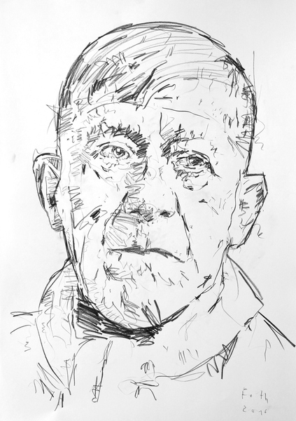 Studie zu Oskar Kokoschka II