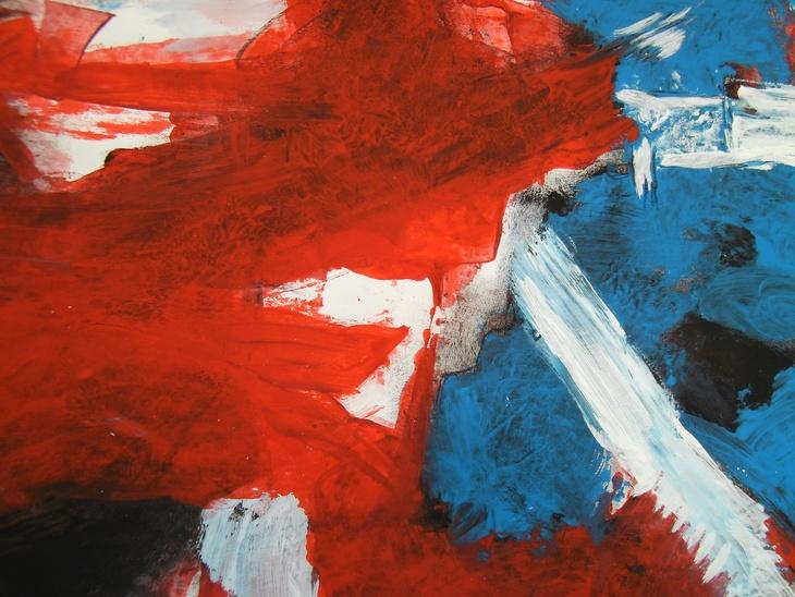 Roter Sturm im Kampf mit blau