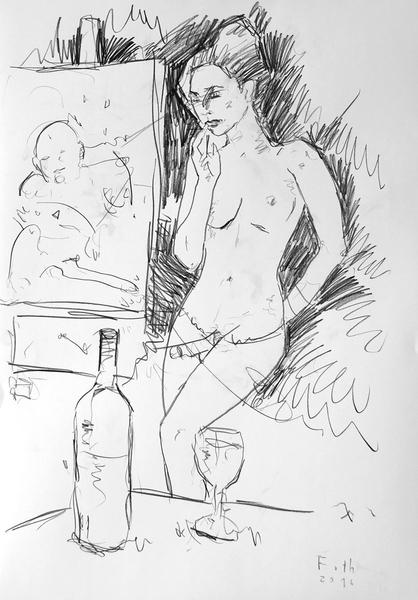 Malerin mit Umschnalldildo II