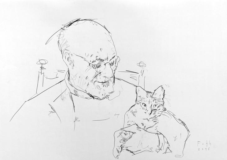 Studie zu Matisse mit Katze