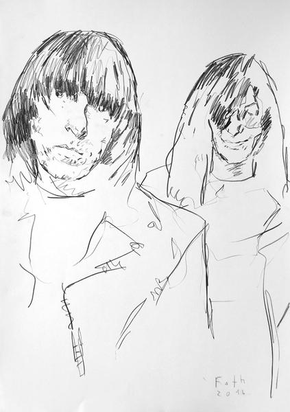 Studie zu Johnny und Joey Ramone