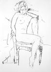 Sitzende, unverhüllt
