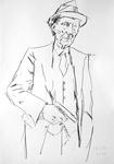 William S. Burroughs mit Revolver