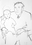 Urgroßvater Wilhelm mit dem Künstler als Kind