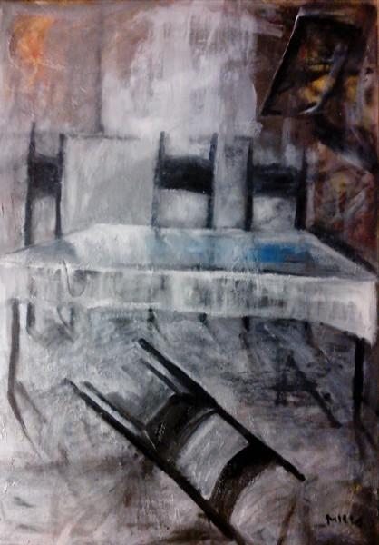 Umgefallener Stuhl