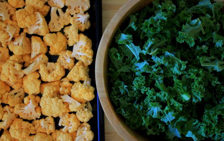 Kale and Cauliflower Soup