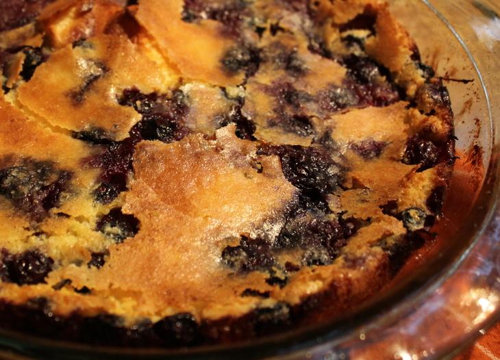 Blueberry Lemon Oven Pancake