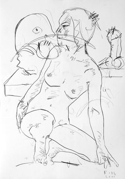 Schülerin in Bildhaueratelier II