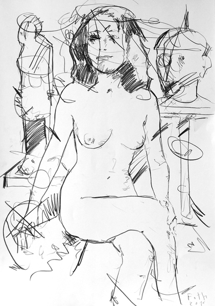 Schülerin in Bildhaueratelier III