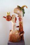 Kiss, ceramic sculpture