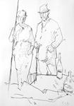 Die Großeltern des Künstlers auf Wanderung II