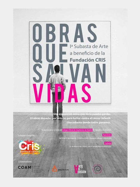 Cris against cancer foundation exhibition poster