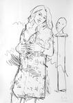 Frau mit kleiner Büste