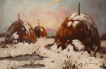 Three haystacks