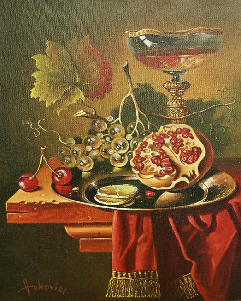 Half of pomegranate for you