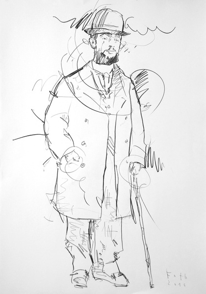 Studie zu Henri de Toulouse-Lautrec