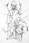 Toulouse-Lautrec mit Hund