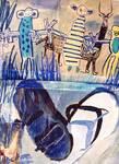 naive drawings children art paintings outsider artist