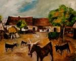 ungarischer Bauernhof mit Ziegen