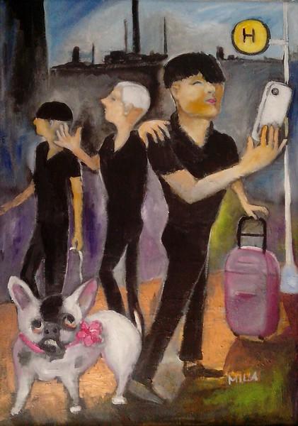 Touristen-Trio
