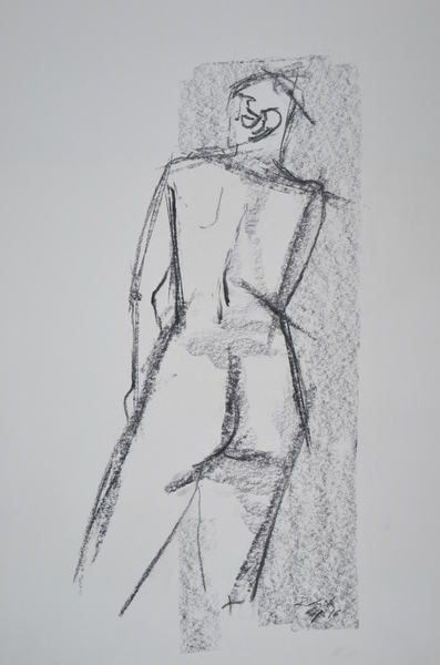 woman from behind standing