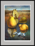 Pears in mirror