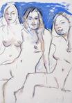 Drei unbekleidete Frauen