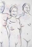 Drei unbekleidete Frauen II