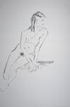 girl with dreadlocks sitting