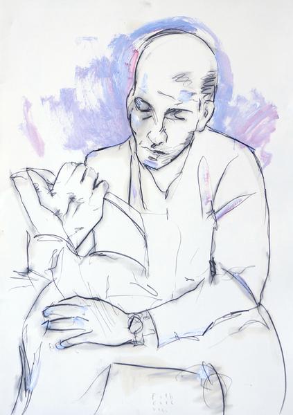 Lesender Mann I