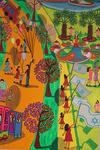 luna park naive paintings folk art tel aviv city landscape paint