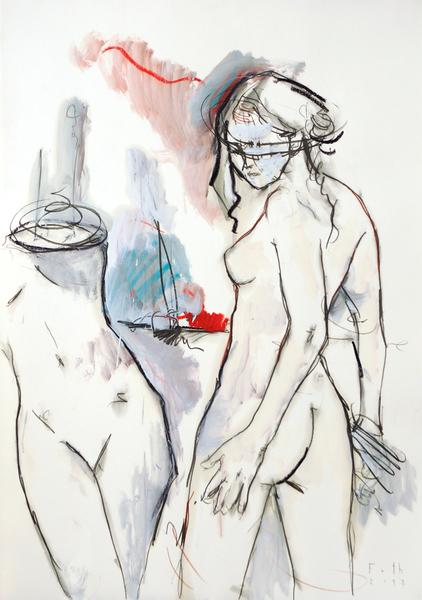 Bildhauerin mit Torso