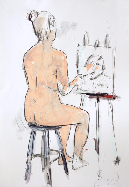 Malerin, Atelier Schinkelstraße III