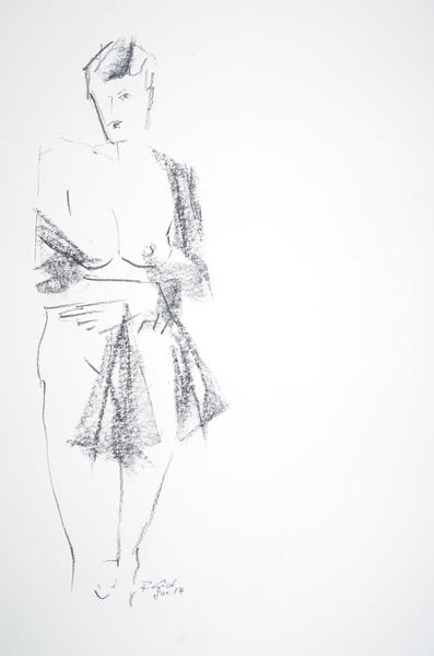 woman with drapery
