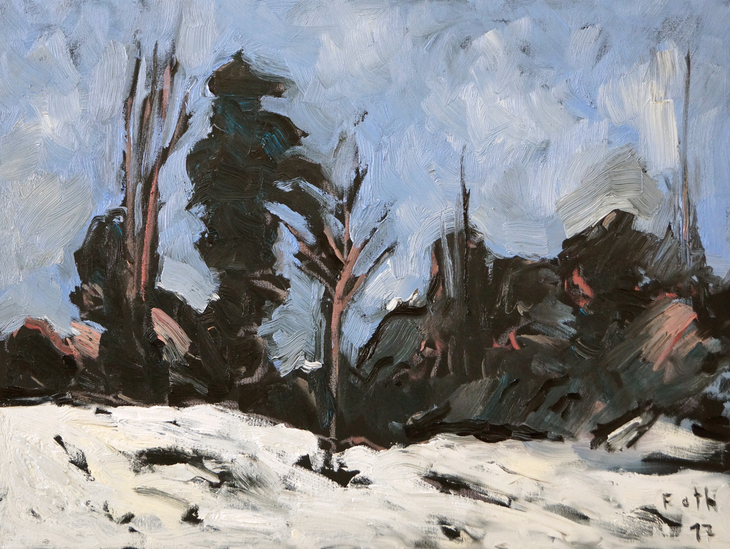 Schnee im Holzurburger Wald