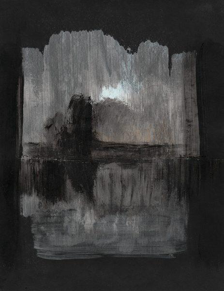 Landscape on black