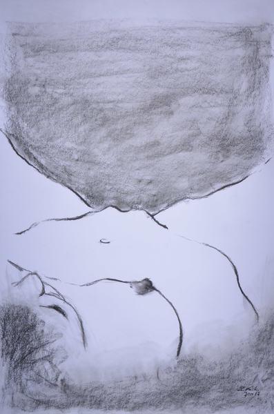 lying woman seen from overhead perspective vs.II