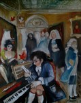 Zusammentreffen der Musikanten