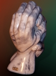 Hands of a sculptor by Shimon Drory