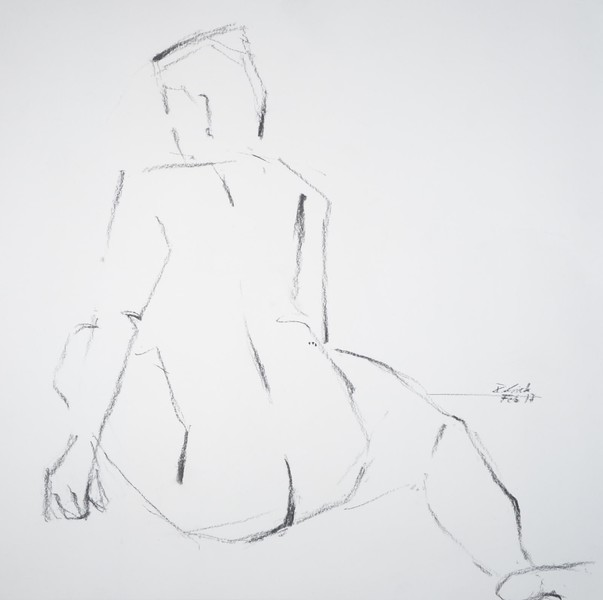 sitting woman from behind