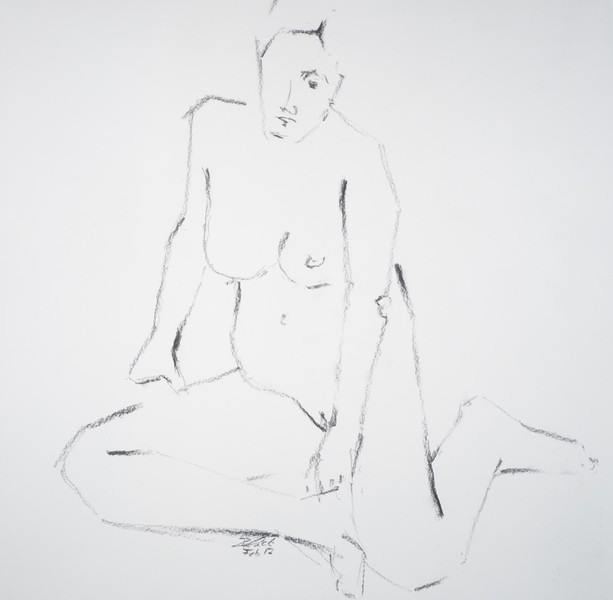 sitting woman from the front