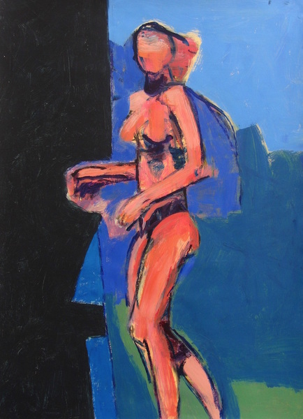 Standing Nude (Into the Black)