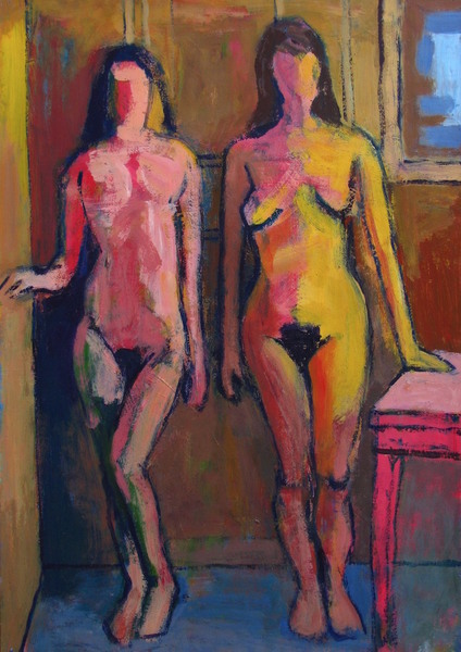 Two Standing Nudes (Fauvist)