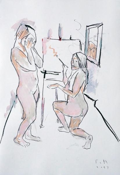 Malerinnen, März-Atelier