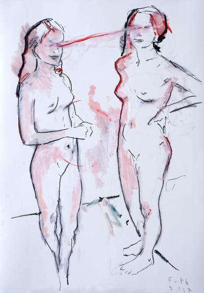 Mutter und Tochter, März