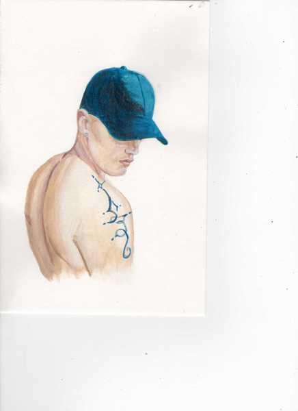 The blue cap